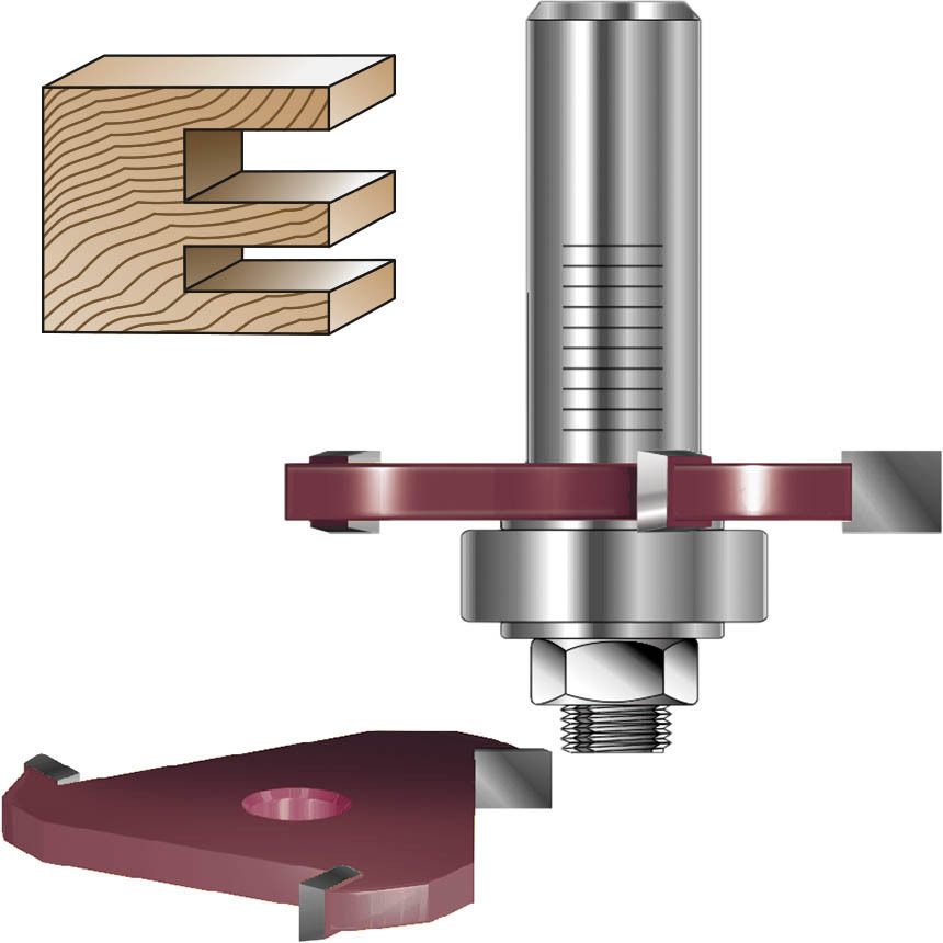 3 Wing Slot Cutter Router Bits