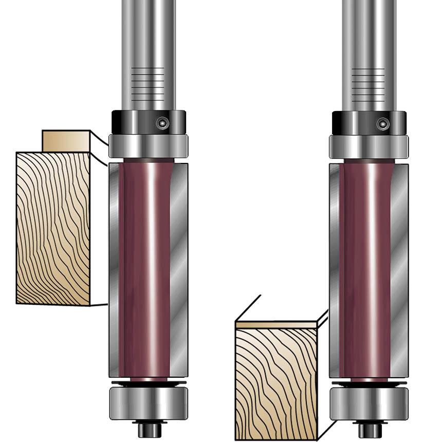 Flush Trim Top & Bottom Bearing Router Bits