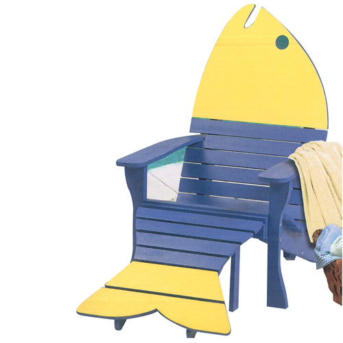 Adirondak Fish Chair & Ottoman - Plan