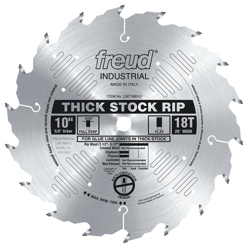 "Freud Thick Stock Rip Blade -10"" X 18T Flat"