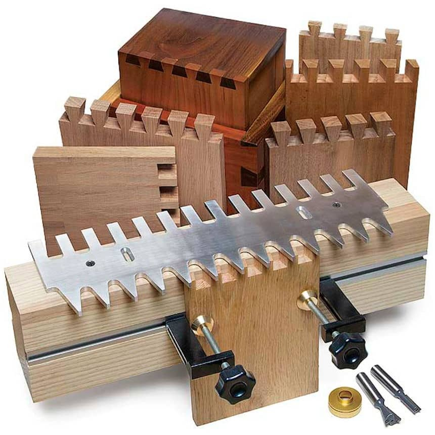 Pins & Tails Through Dovetail Clamping System