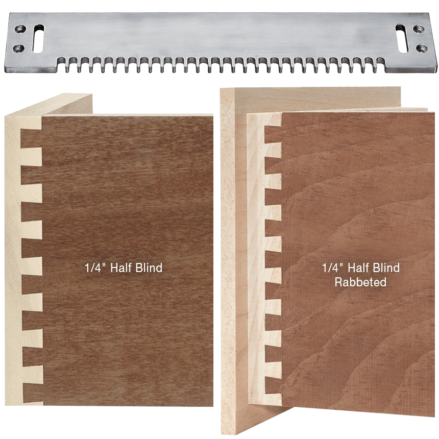 """Half Blind 1/4"""" Dovetail Template for MLCS Dovetail Jig"""