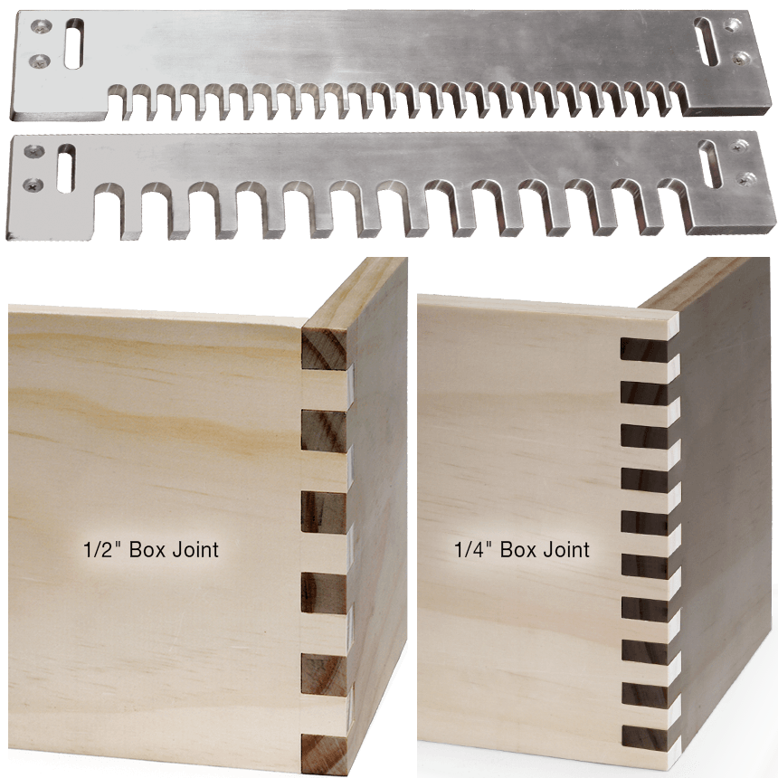 Box Joint Templates for MLCS Dovetail Jig