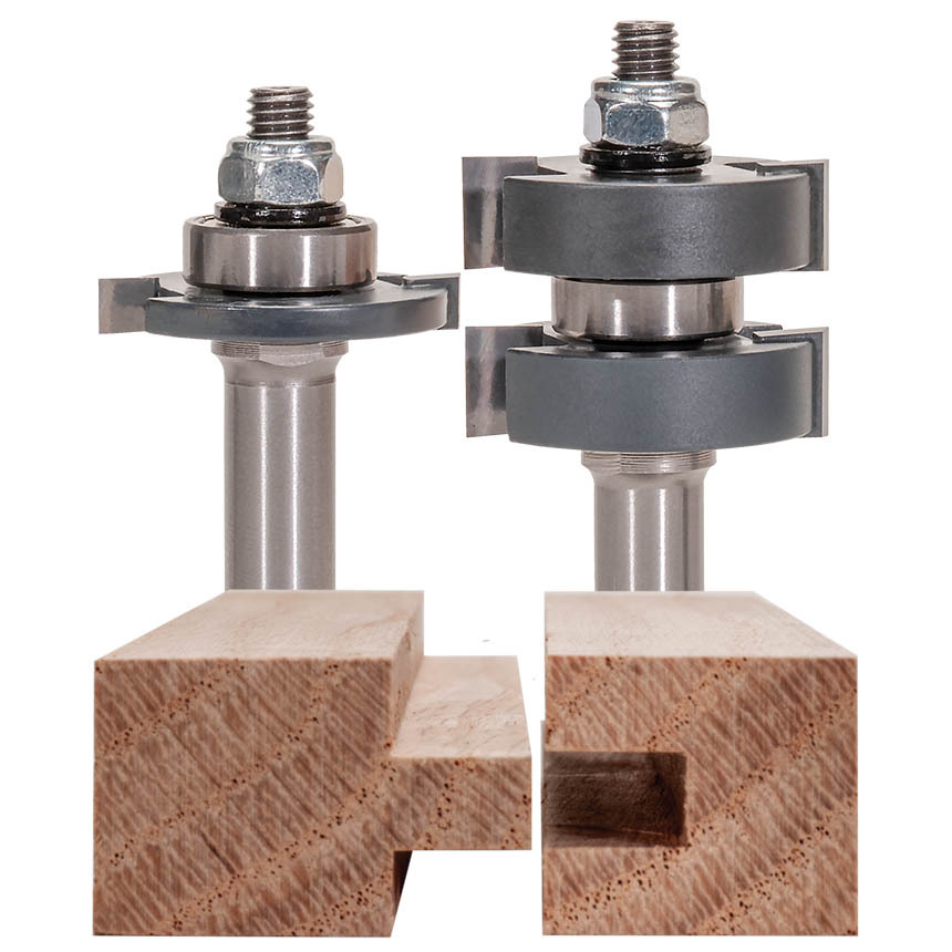 Two Piece Tongue & Groove Router Bit Set