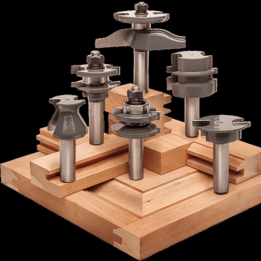 6 Piece CabinetMaker Router Bit Sets