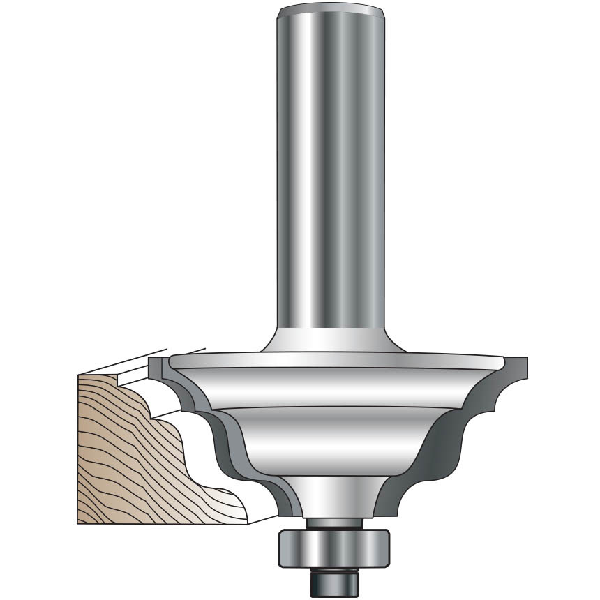 Double Ogee and Bead Router Bit