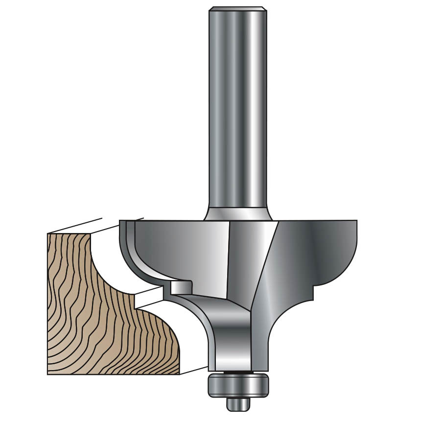 Picture Frame / Cornice Molding Router Bit