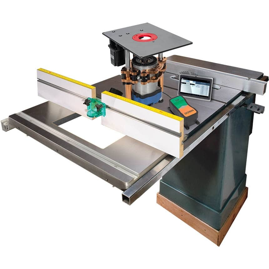 Ultimate Cast-Iron Extension PowerLift Pro Router Table System