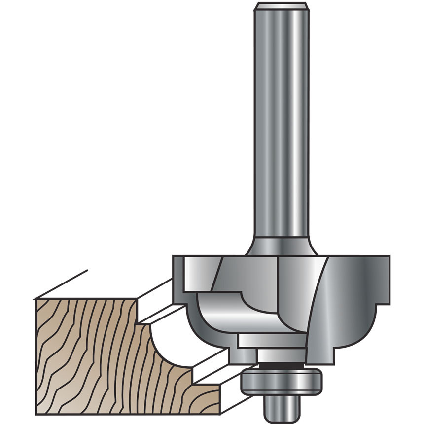 Double Fillet and Cove Router Bits