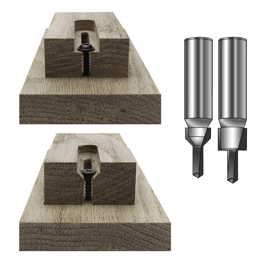 Screw Slot Router Bits