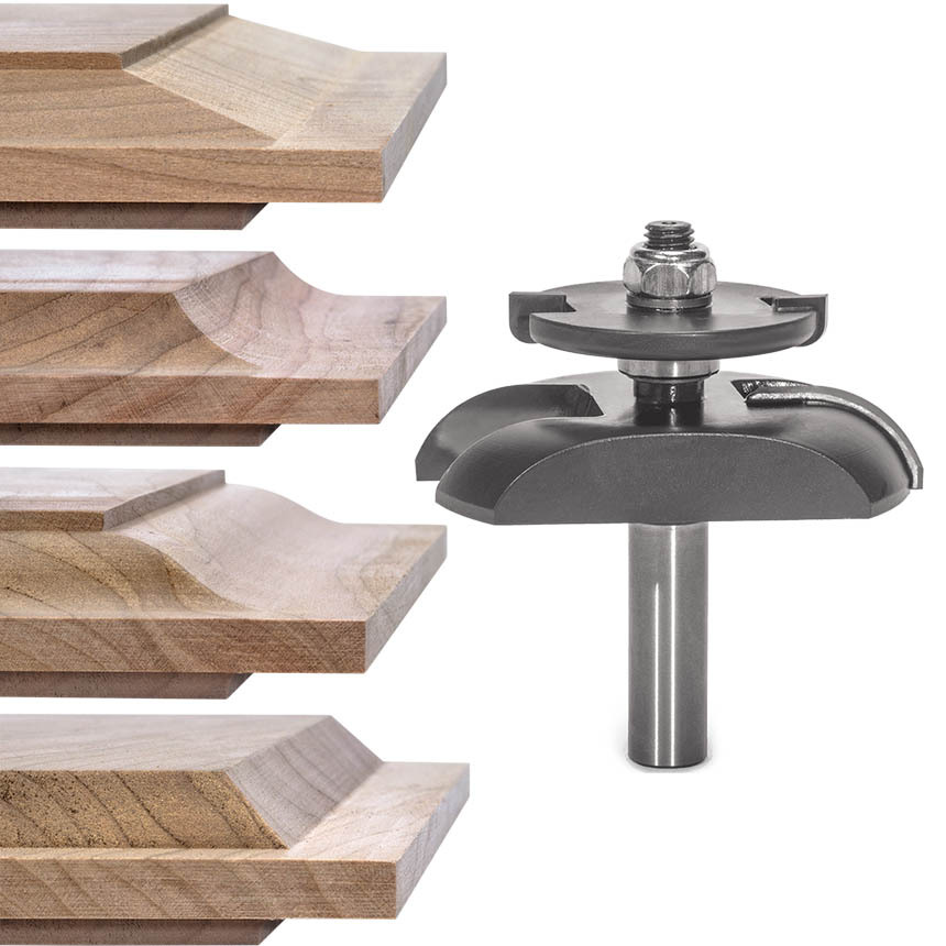 Raised Panel Router Bits with Undercutter