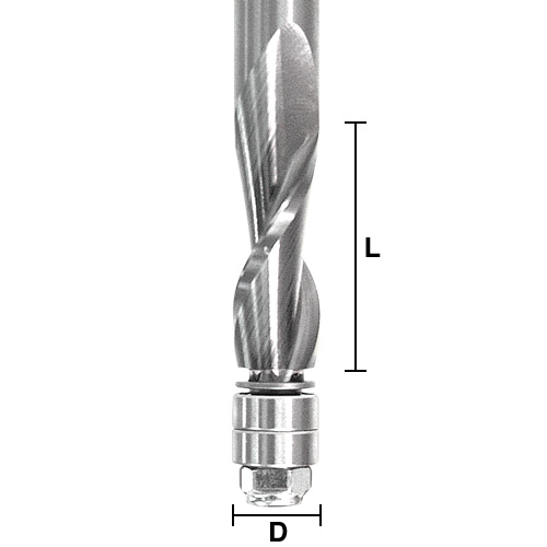 Solid Carbide Spiral Flush Trim Bits