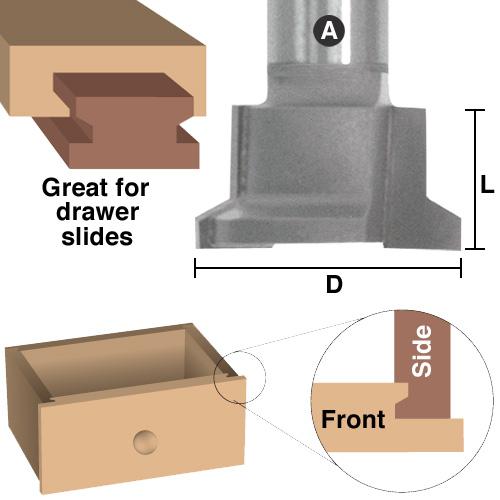 Reversible Drawer Lock Glue Joint Bits Door Construction Eagle America