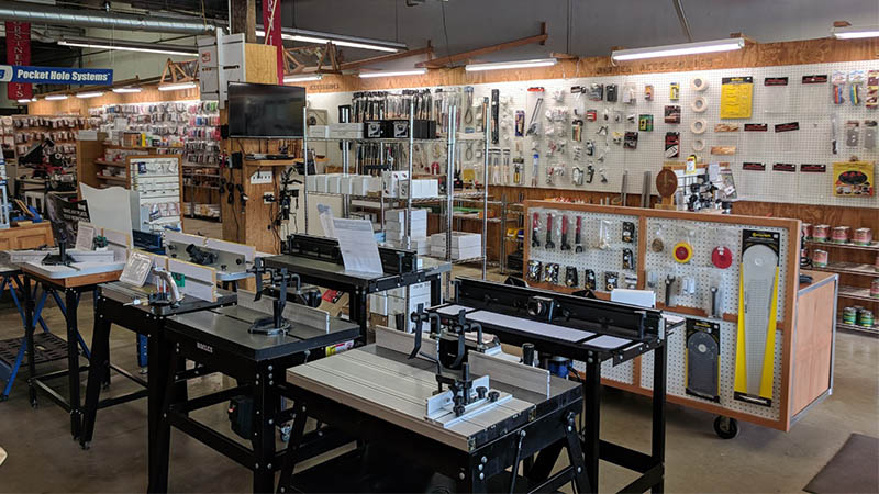 View of Our Woodworker's Showroom Store