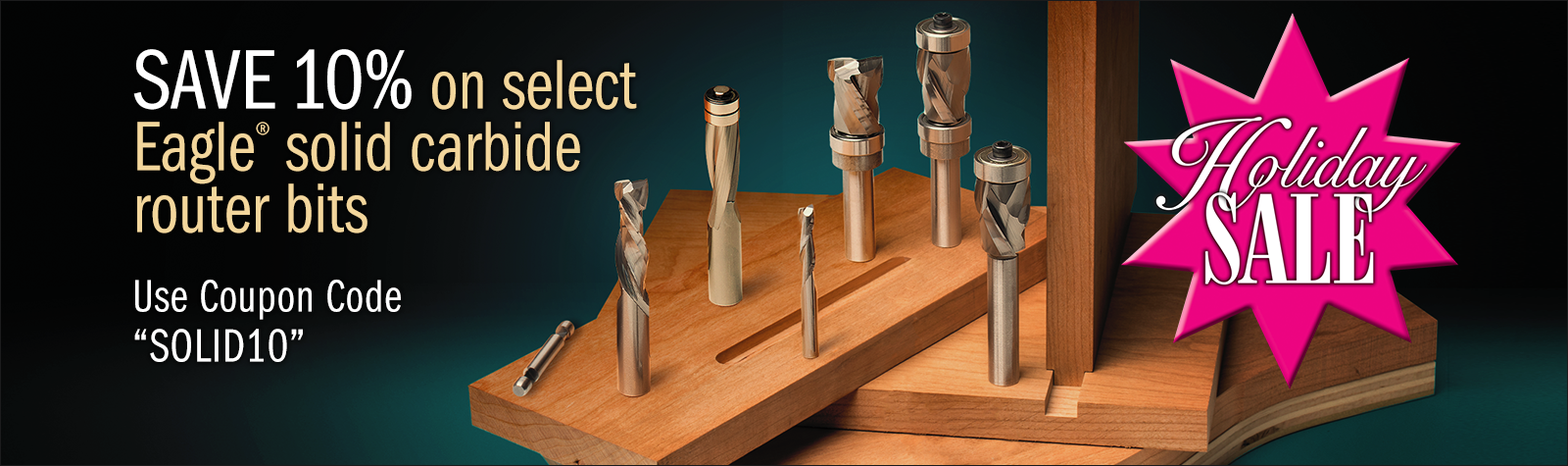 10% Savings on ALL Solid Carbide Router Bits