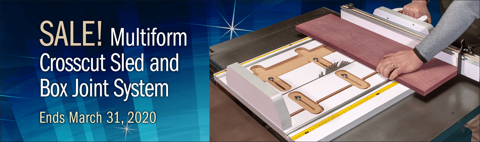 New COMBO! Multiform Crosscut Sled & Box Joint System