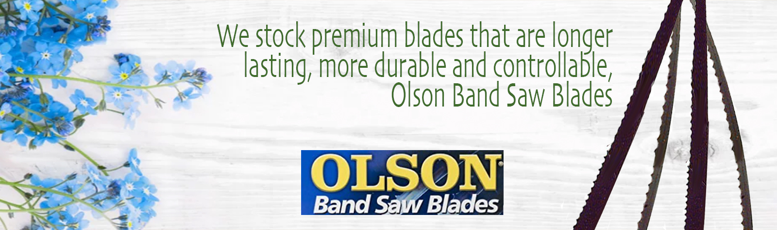 We stock premium blades that are longer lasting, more durable and controllable, Oslon Saw Blades.