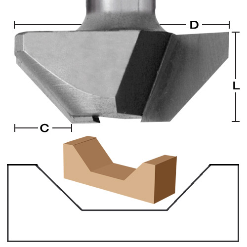V-Groove Face Frame Joining Bit