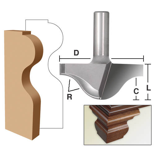 Plunge Ogee Bracket Foot Mold