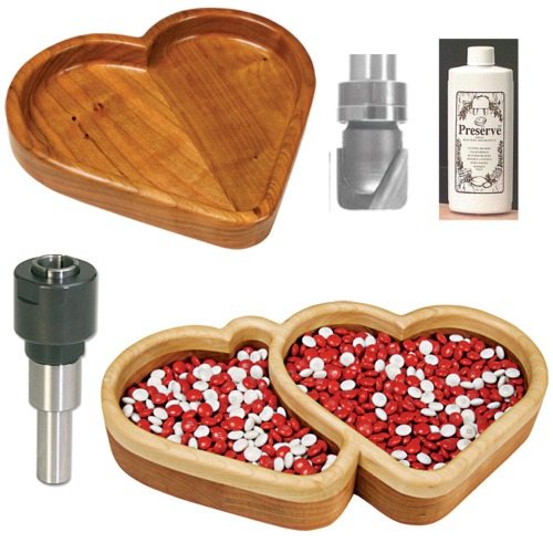 Complete Hearts Bowl and Tray Templates Kit