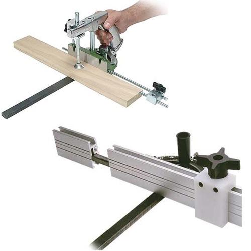 Clamping Miter Gauge & Premium Miter Gauge Extension Fence