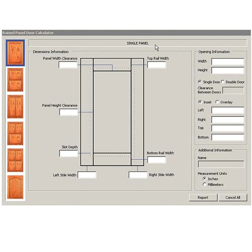 Raised Panel Project Calculator CD