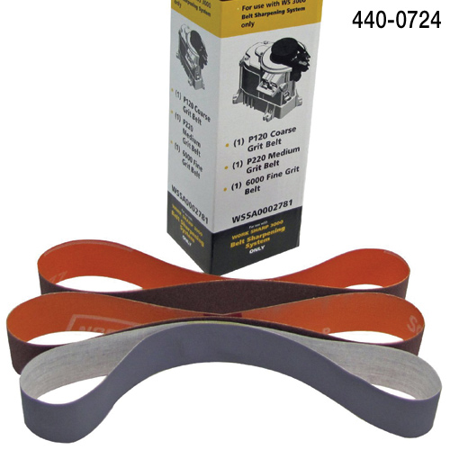 3 Piece Abrasive Belt Kit for Worksharp 3000