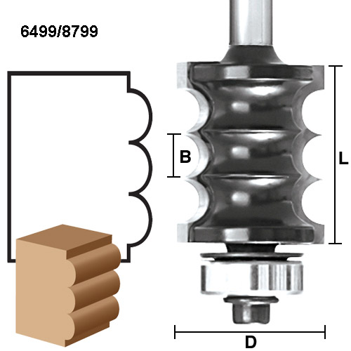 Multi-Bead / Reed Router Bits
