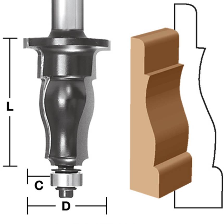 Colonial Architectural Case / Molding Router Bit