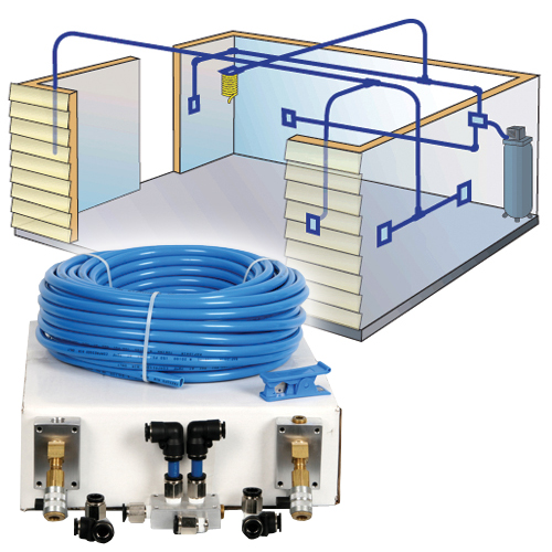 Rapid Air Compressed Air Piping System Air Nailers