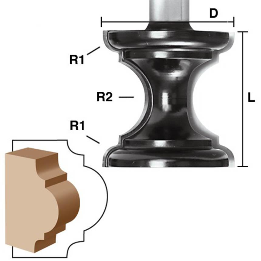 Astragal Molding Router Bits