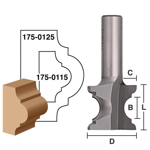 Chair Rail / Wainscot Bits, Molding Bits: Eagle America