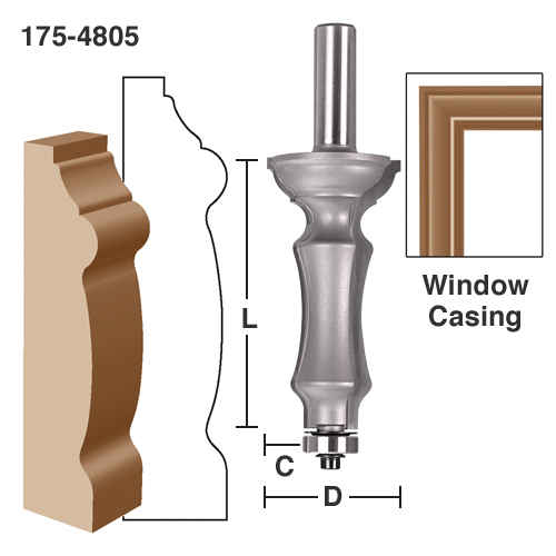 Vintage Parts 61975 3.5 Column Drop with Built-in Key and Ringloc Adjustable Column Hole