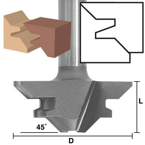45 Degree Lock Miter Bits