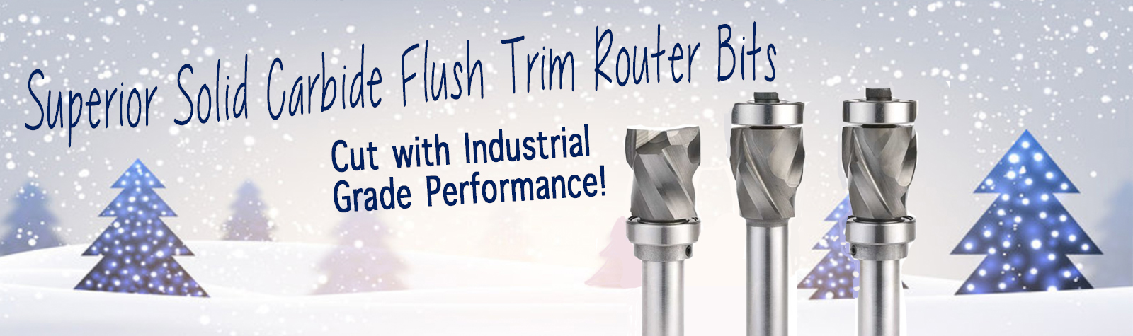 Superior Solid Carbide Flush Trim Router Bits