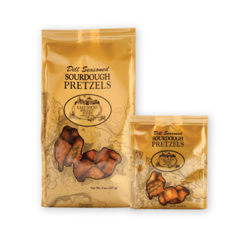Dill Seasoned Sourdough Pretzels