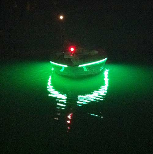 Led applications for your boat yacht houseboat sailboat or any green fishing light led strip aloadofball Gallery