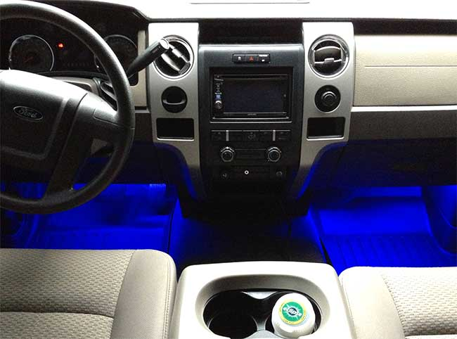 Automobile applications using led lighting led strip light car floorboard aloadofball Images