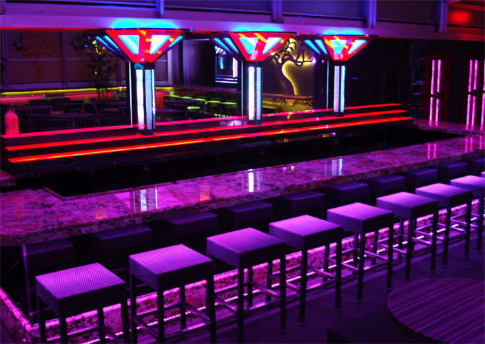 Led lighting applications for your business led cove lighting color changing bar aloadofball Choice Image