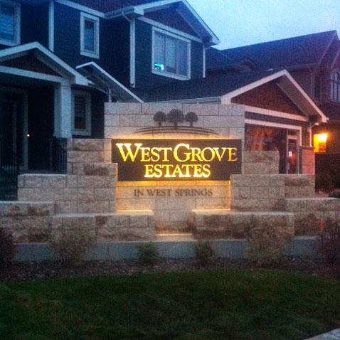 Warm White LED Sign. LED Cross Lighting & LED Applications for Signs and Signage using LED Lighting