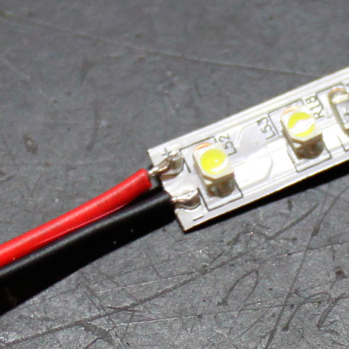 Led tutorials soldering wire to single color led strip light complete solder aloadofball Choice Image