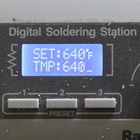 Do use proper solder temps