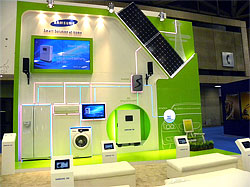 LED Tradeshow Exhibit for Samsung Green Energy