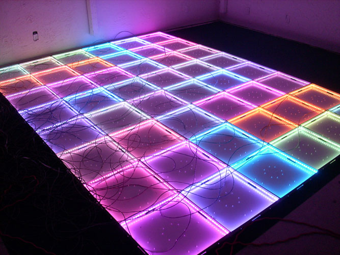Rgb Color Changing Led Techno Dance Floor Using 24 Channel