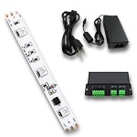 RGB LED Digital Ribbon Kit , Ribbon, DMX Decoder, 36W PS