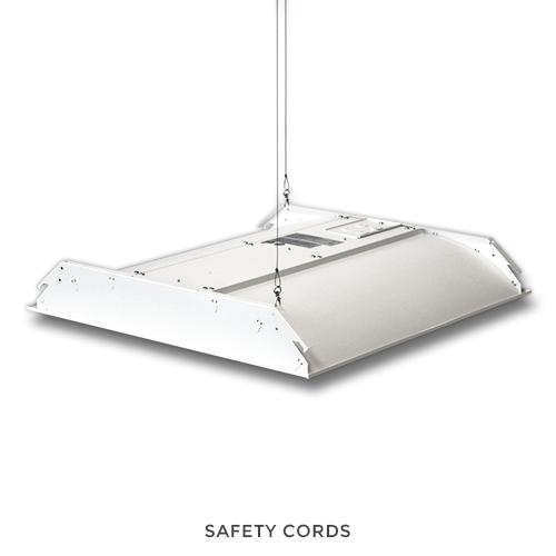 LED Troffer Light Fixture 5000K White 40W, 2ft x 2ft, 100-277AC