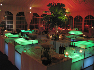 RGB LED Lighting for Catering Event