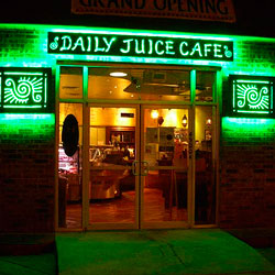 Restaurant Sign Using Green LED Modules for Halo effect
