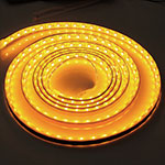 Amber Waterproof LED Strip Lights