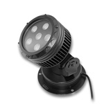 "Bright Star 6"" Round White LED Wall Washer Black Finish - 12W, 24VDC"